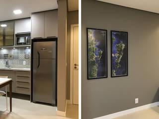 Projeto de interiores para imóvel de locação Cozinhas modernas por Jaqueline Ribeiro - Designer de Interiores Moderno