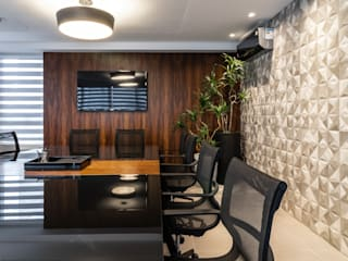 Escritório de advocacia: Espaços comerciais  por CG arquitetura e interiores,Minimalista