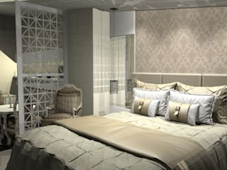 Quarto de casal estilo clássico Quartos clássicos por Jaqueline Ribeiro - Designer de Interiores Clássico