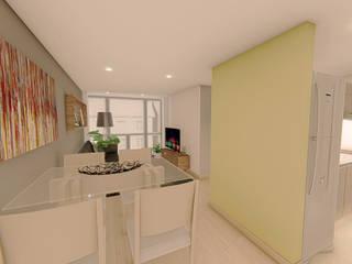 Diseño de Interior Apartamento Arquitectos Bogotá | MOAR arquitectos Salas modernas