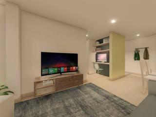 Diseño de Interior Apartamento : Salas de estilo  por Arquitectos Bogotá | MOAR arquitectos ,