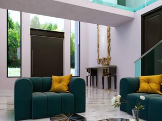 Salas de estar modernas por AIDA TRACONIS ARQUITECTOS EN MERIDA YUCATAN MEXICO Moderno