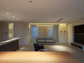 平尾の家Ⅱ モダンデザインの リビング の 伊藤建築都市設計室 モダン