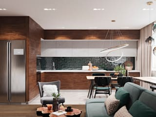 Kitchen by 3D GROUP, Minimalist