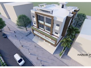 COMMERCIAL+RESIDENTIAL APARTMENT:  Multi-Family house by HARDIK PATIL ARCHITECTS,