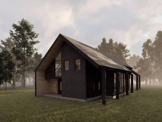 Casa VL: Casas de campo de estilo  por Estudio Sur Arquitectos