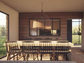 Casa AD: Comedores de estilo  por Estudio Sur Arquitectos