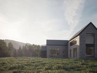 Casa AD: Casas de campo de estilo  por Estudio Sur Arquitectos
