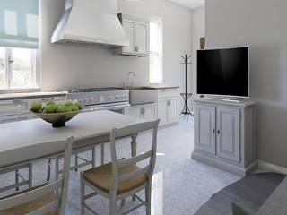 Home Staging Virtuale Appartamento di Planimetrie Realistiche Mediterraneo