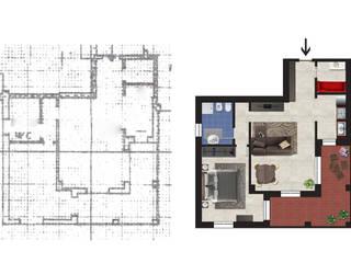 Planimetria Realistica di un Appartamento in Vendita Case moderne di Planimetrie Realistiche Moderno