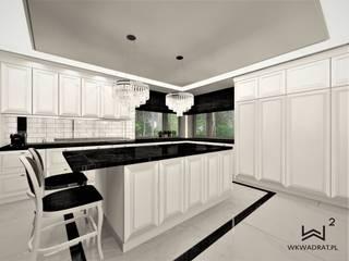 Kuchnia w stylu angielskim Wkwadrat Architekt Wnętrz Toruń Klasyczna kuchnia Marmur Biały