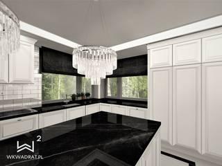 Kuchnia w stylu angielskim Wkwadrat Architekt Wnętrz Toruń Kuchnia na wymiar Marmur Czarny