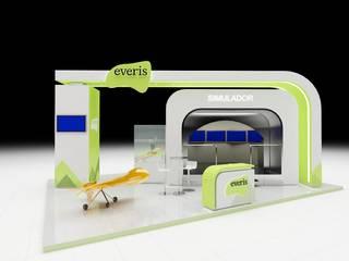 Diseño de Stand para Everis: Centros de exhibiciones de estilo  por AUTANA estudio, Moderno