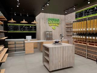Modelo 3D para Café Vegano Puro Verde de AUTANA estudio Rústico