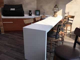 Fabricación de mobiliario para Quincho en Santiago: Terrazas  de estilo  por AUTANA estudio, Rústico