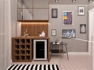 Bodegas de vino de estilo moderno de CaPra Arquitetura e Interiores Moderno