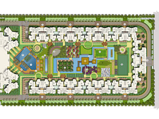 2 Bhk flat in Noida Extension:  Office buildings by Ace Divino,