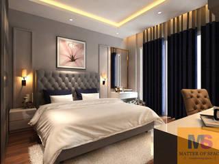 MASTER BEDROOM DESIGN (LANDMARK AVENUE):  Bedroom by Matter Of Space Pvt. Ltd.,