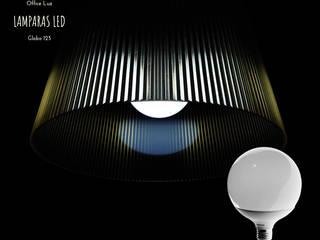 LAMPARA GLOBO G120 E27 15W LED:  de estilo  por OFFICE LUZ  ILUMINACION