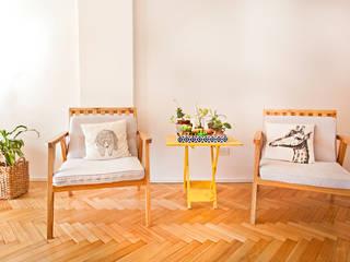 Reforma de un departamento: Livings de estilo  por Ba75 Atelier de Arquitectura