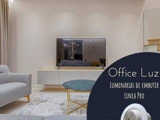 LUMINARIAS DE EMBUTIR SL3 LED DIMERIZABLE 8W:  de estilo  por OFFICE LUZ  ILUMINACION