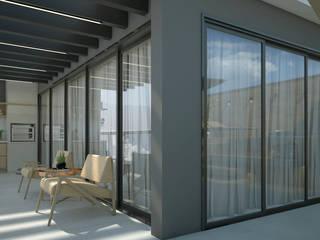 BP01 Casas modernas por Rafael Vasco Arquitetura 3D Moderno