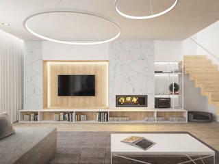 WNĘTRZA DOMU W RYBNIKU: styl , w kategorii Salon zaprojektowany przez Good Time Design