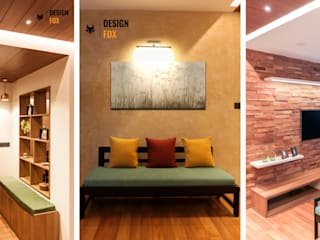 DLF New Town Heights Kakkanad Minimalist living room by Design Fox Minimalist
