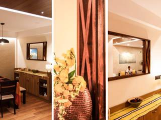 DLF New Town Heights Kakkanad Minimalist dining room by Design Fox Minimalist