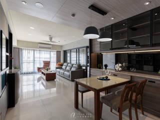 CHIU House‧GIGA巨蛋核心城:  餐廳 by 元作空間設計