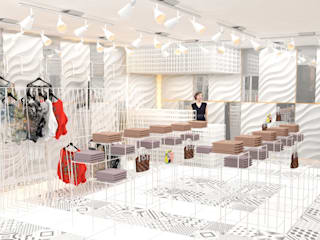 Malaysia - Fashion Shop Interior Design Modern Dressing Room by Yunhee Choe Modern