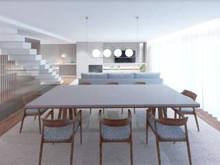 MIA arquitetos Comedores de estilo moderno