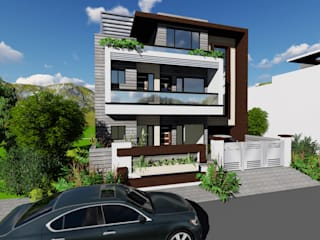 Medium row houses (HUDA PATTERN) by AAROHAN ARCHITECTS Modern