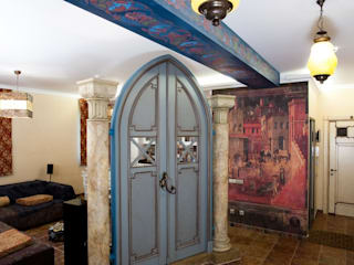 Eclectic style corridor, hallway & stairs by дизайн-группа 'Лестница' Eclectic
