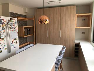 Ampliación y Reforma Cocina Departamento de Latitud Sur Moderno