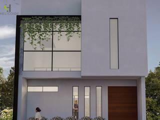Petites maisons de style  par Helicoide Estudio de Arquitectura,