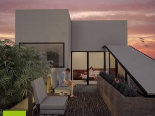 Terrasse de style  par Helicoide Estudio de Arquitectura,