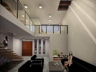 Salon de style  par Helicoide Estudio de Arquitectura,