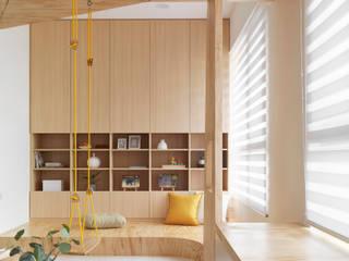 Livings de estilo  por 寓子設計, Escandinavo