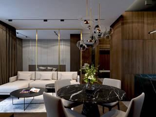 Apartament w Rzeszowie Nowoczesny salon od MACZ Architektura - Architekt wnętrz Rzeszów Nowoczesny