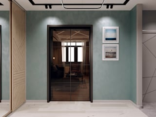 Minimalist corridor, hallway & stairs by Творческая мастерская Твердый Знак Minimalist
