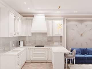 Дизайн интерьера в стиле Неоклассика XO Design Кухня в классическом стиле Бежевый