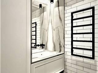 Łazienka w stylu loftowym Wkwadrat Architekt Wnętrz Toruń Industrialna łazienka Cegły Biały