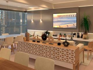 Salones de estilo moderno de SCK Arquitetos Moderno