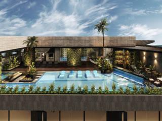 Hotel in stile  di RAHE arquitectos, Moderno