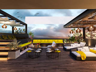 Balcones y terrazas de estilo moderno de RAHE arquitectos Moderno