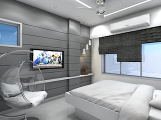 Interior Residential project Modern style bedroom by Aspdarchitects Modern