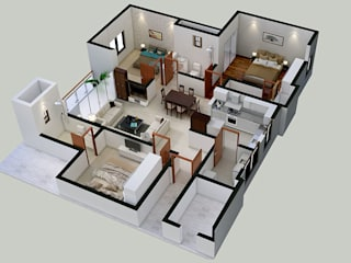 3D Floor Plan Design by ThePro3DStudio