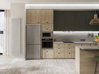 Проект №1: Встроенные кухни в . Автор – Дизайн-студия 'New Walls Design'