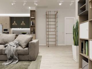 Проект №1: Гостиная в . Автор – Дизайн-студия 'New Walls Design'
